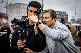 Odhran Taylor from Goldbox working with Bear Grylls on the Be Military Fit Initiative