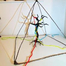 Installation with wire and thread