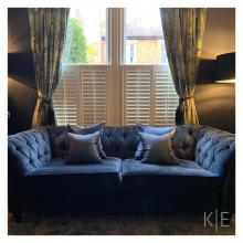 Bespoke handmade curtains designed and made by KE Interiors