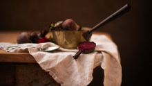 Still life photography of a beetroot