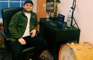 Ben Tennett in his studio at Banks Mill