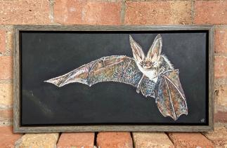 Brown long-eared bat painting by Sarah Perkins Art