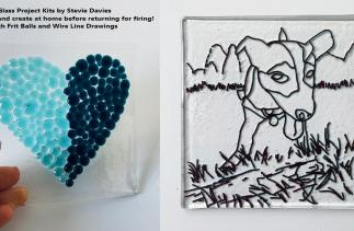 Glass project kits by Stevie Davies