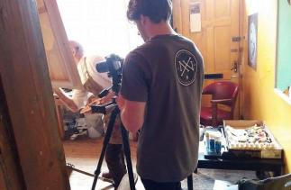 Josh Timmins videoing John McDonald